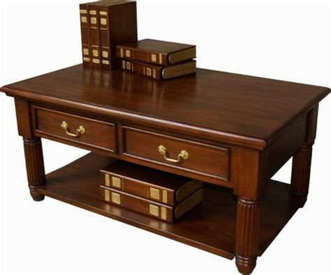 solid mahogany coffee table pillar mahogany coffee table lock stock barrel