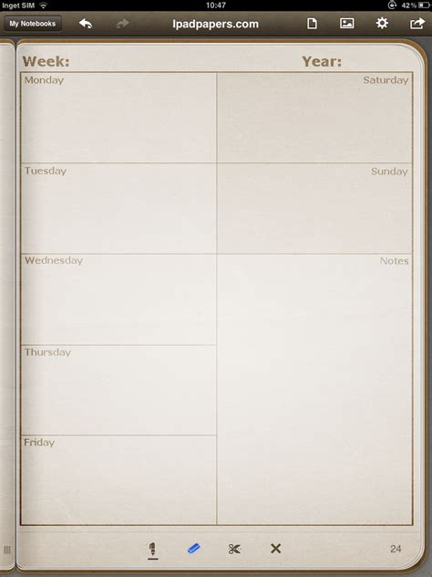 How To Make A Diary With Paper - ipadpapers weekly diary paper templates