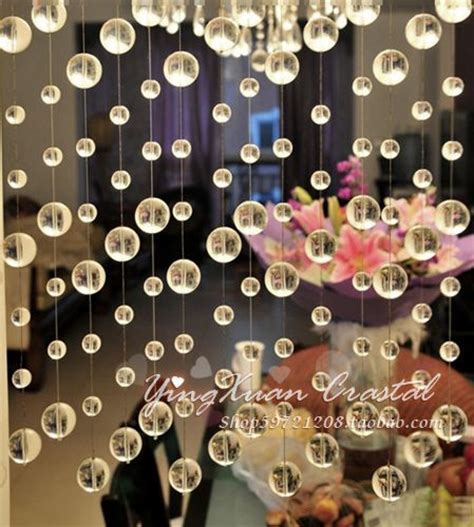 room beads curtain transparent crystal round pearl crystal bead door curtain