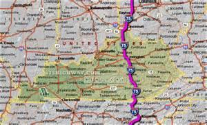 map of i 75 i 75 kentucky map