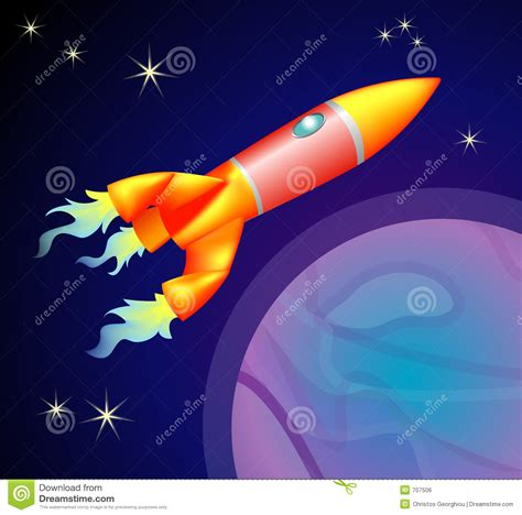 Spaceship Rocket rocket space ship royalty free stock image image 707506
