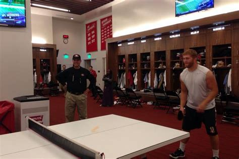 ping locker room 49ers ping pong table will clearly destroy the team from within niners nation