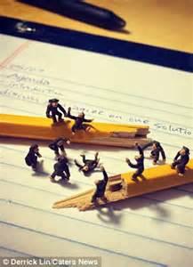 Medical Desk Derrick Lin S Miniature Figures Capture Everyday Ups And