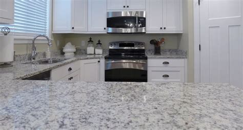White Kitchen Cabinets With Dark Countertops Ashen White Granite Countertop New Kitchen Pinterest