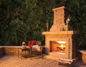 patio fireplace kits peerless block brick residential products hardscape