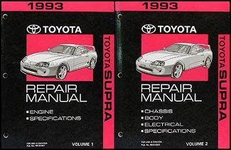 1993 toyota supra problems online manuals and repair information 1993 toyota supra repair shop manual original
