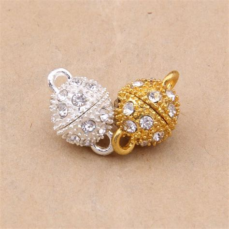 findings for jewelry yage 10mm wholesale rhinestone magnetic clasps 10pcs