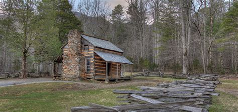 Oliver Cabin by Oliver Cabin Cades Cove Great Smoky Mountains