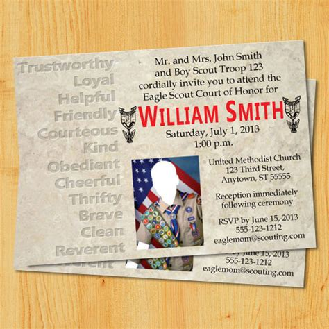 eagle scout invitation template eagle scout court of honor invitation template