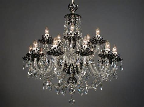 Black Chandelier Crystals Homeofficedecoration Black Chandeliers