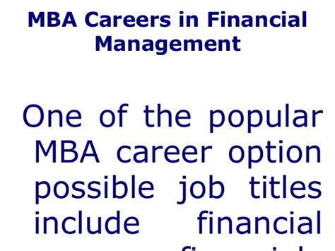 Use Mba In Title by Career In Mba