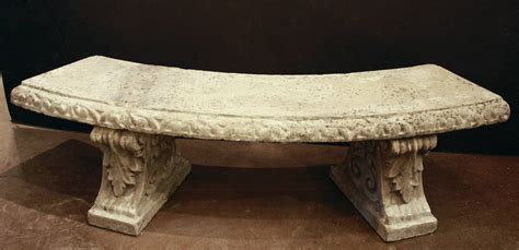 curved stone garden bench large english curved garden stone bench at 1stdibs
