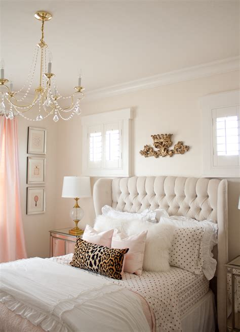 Teenage Bedroom Designs pink and gold girl s bedroom makeover randi garrett design