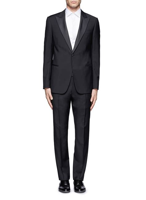 armani peak lapel woolmohair tuxedo in for men