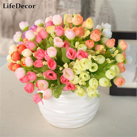 artificial flower decoration for home aliexpress com buy 1pcs artificial flowers for wedding