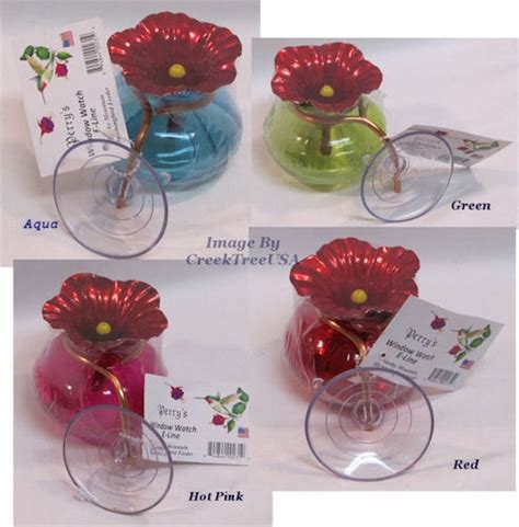 details about window watch glass hummingbird feeder w