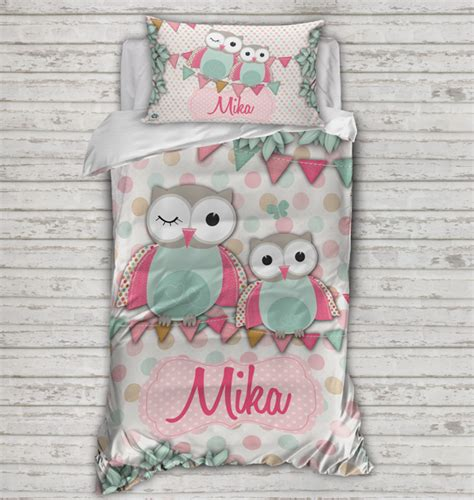 personalised kids quilt covers spatz mini peeps 174