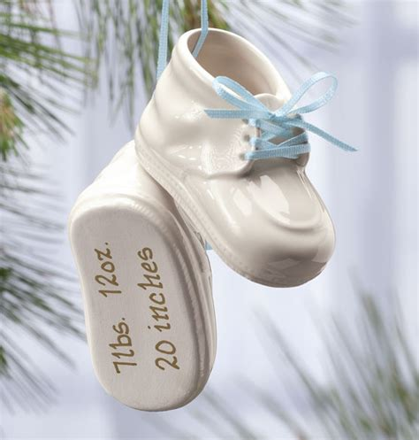 ornament personalized personalized baby bootie ornament baby ornament exposures