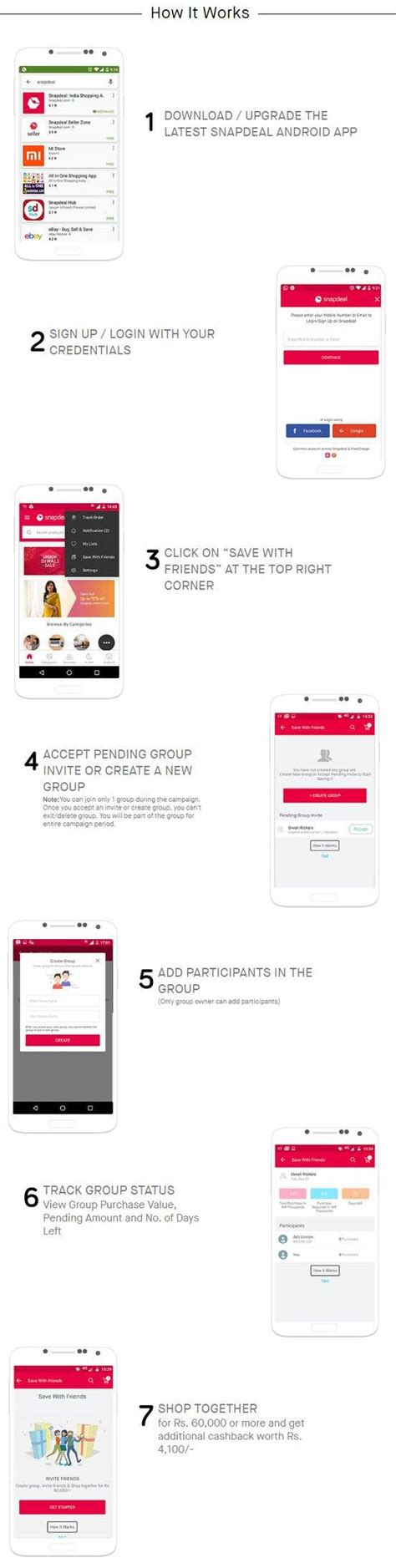 snapdeal mobile app coupons snapdeal save with friends offers get rs 4 100 this