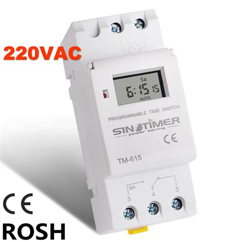 Timer Digital Programmable Listrik 220v 16a 2000 W Max buy wholesale time switch from china time switch wholesalers aliexpress