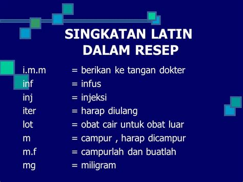singkatan bahasa latin lengkap  resep obatgeneric