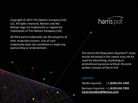the harris poll 2015 harris poll equitrend rankings 2015 harris poll reputation quotient report