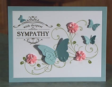 Handmade Sympathy Cards - handmade sympathy card stin up thanks for caring