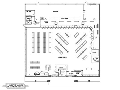 convenience store floor plan layout liquor store design majestic liquor jaycomp development