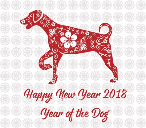 new year 2018 animal pictures happy new year 2018 card year of stock vector