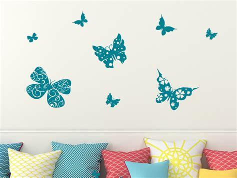 Kinderzimmer Inspiration 4218 by Wandtattoo Schmetterlinge Mit Ornamenten Set Wandtattoo De