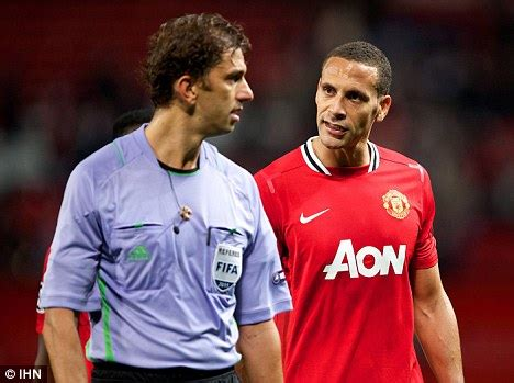 manchester united v manchester city: rio ferdinand and