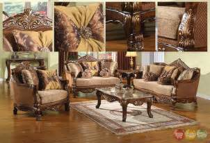 El Dorado Sofas Traditional Style Formal Living Room Furniture Brown Sofa