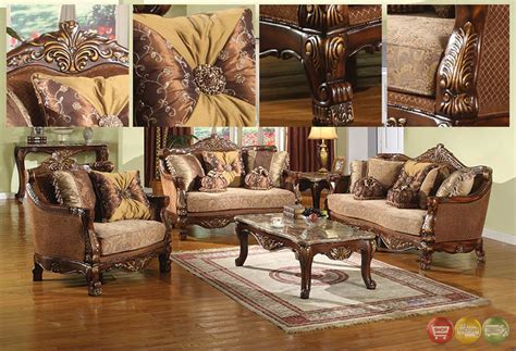 Traditional Style Formal Living Room Furniture Brown Sofa Traditional Style Living Room Furniture