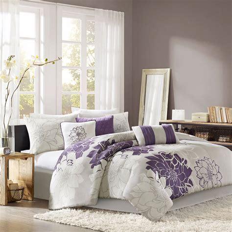 Gray Purple Bed Bag Luxury 6 7pc Comforter Set Cal King Luxury Cal King Bedding Sets