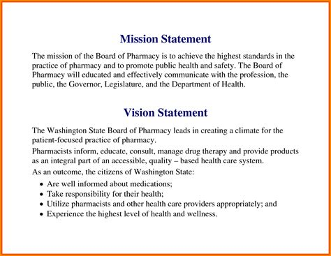 personal vision statement examples
