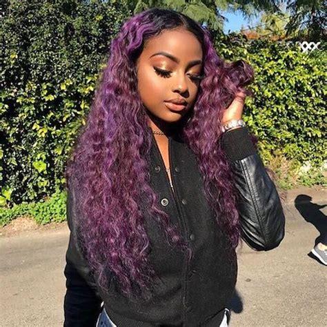 black women with purple hair best hair color for dark skin that black women want in 2017