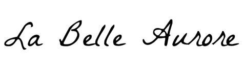 cursive letters font la aurore caratteri osservazioni 1175