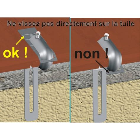 Fixation Tuile fixation tuile acier galvanis 233 gouttiere