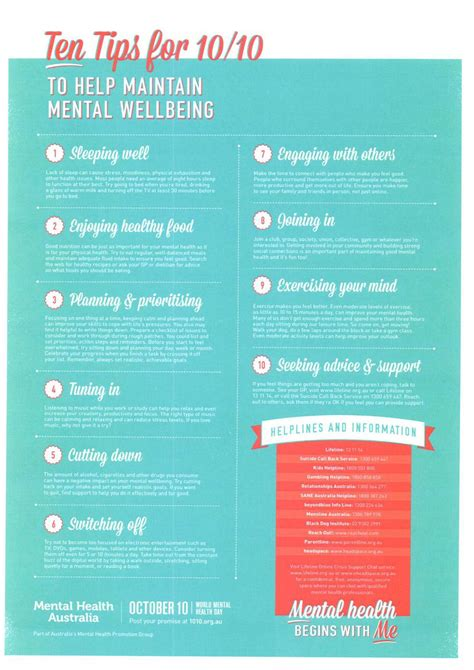 10 Tips To Be A by Mental Health Week Ten Tips For 10 10 From Mental Health