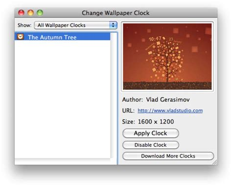 wallpaper clock fuer mac