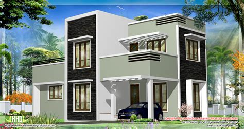 1278 sq.feet Kerala flat roof home design   Kerala home