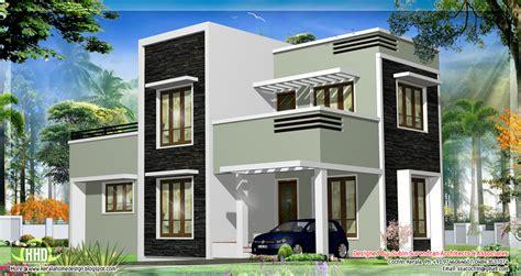 1278 sq.feet Kerala flat roof home design   Home Sweet Home