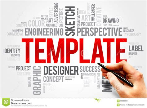 word cloud template template stock photo image 58066993