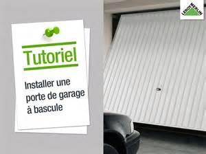 comment installer une porte de garage 224 bascule leroy