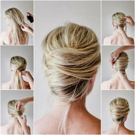 hairstyles updo how to how to make messy french twist updo hairstyle fab art diy