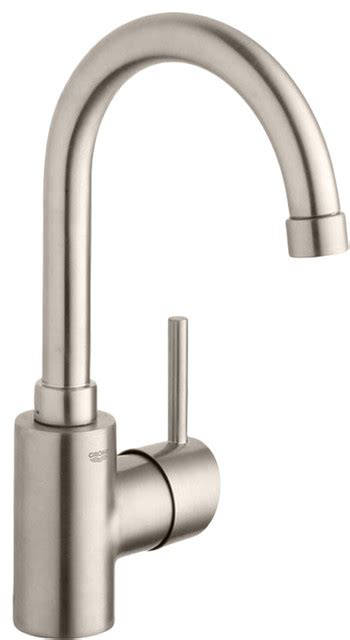 grohe kitchen sink faucets grohe 32138en1 polished nickel concetto one handle lav