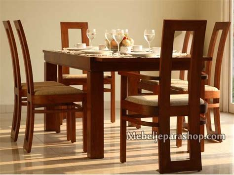 Meja Stainless set kursi meja makan minimalis furniture