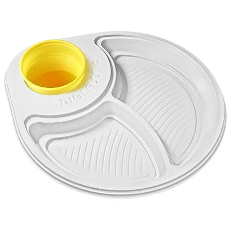 piatti e bicchieri di plastica per feste 30 piatti biscomparto bianchi diglass il piatto di