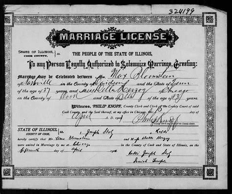 Record Of Marriage In Illinois Object Moved