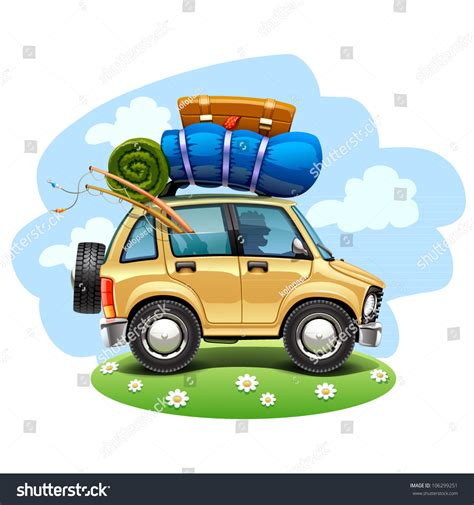 car travel travel car stock vector 106299251